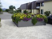 Gartenumrandung quadratisch