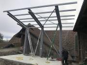Stahlbau Überdachung