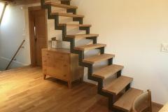 Treppe Metallbau mit Holztritten 2