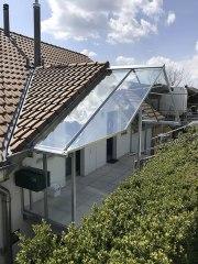 Vordach Eingang Glas